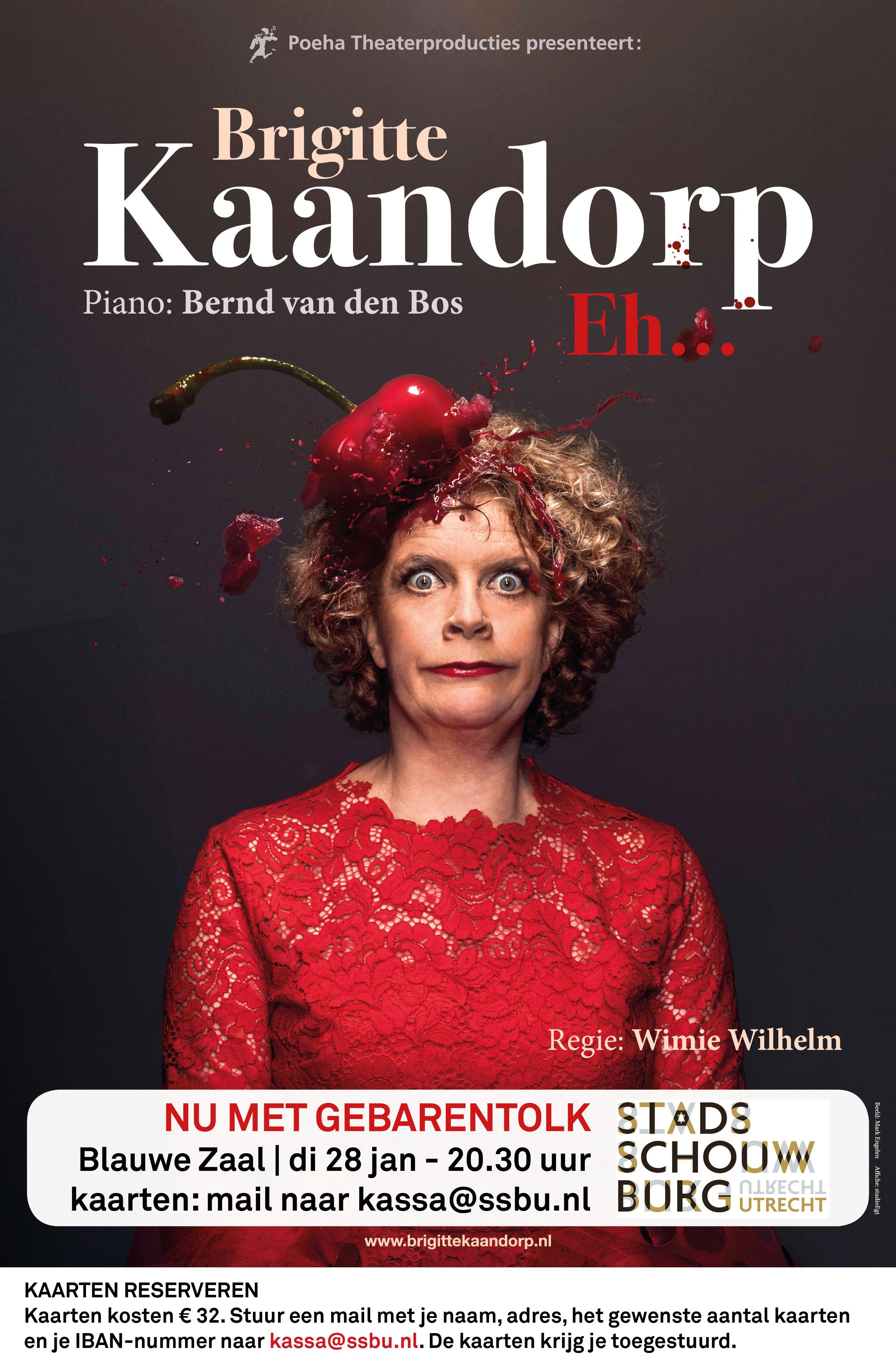 Brigitte Kaandorp met Tolk Nederlandse Gebarentaal